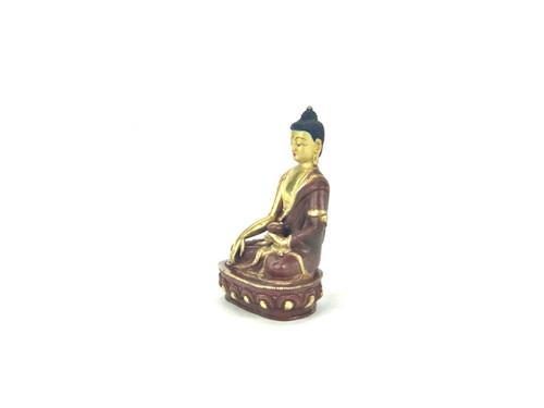 "Gilded Gold/Bronze 7.5"" Shakyamuni Nepalese Buddha Statue #st273"