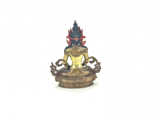 """Gilded Gold/Bronze 8.5"""" Amitabha Nepalese Buddha Statue #st278"""