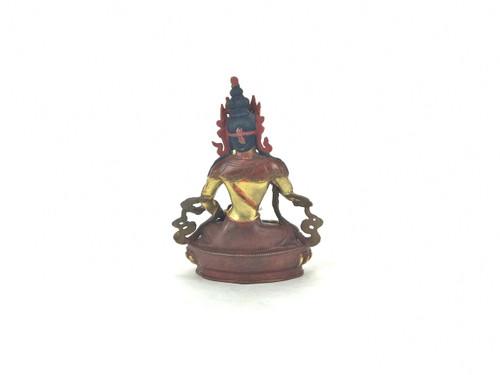 "Gilded Gold/Bronze 8.5"" Vajrasattva Nepalese Buddha Statue #st280"