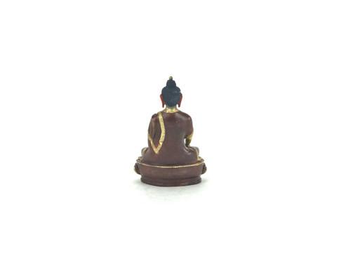 "Gilded Gold/Bronze 6"" Shakyamuni Nepalese Buddha Statue #st126"