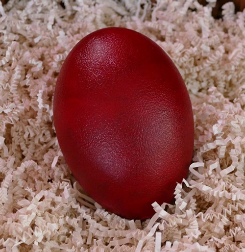 Egg of Creation - Women's Mysteries Rattle - Red, painted Emu Egg, our Womb Rattle.