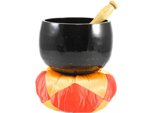 """Black G#  Note Japanese Style Rin Gong Singing Bowl 6"""" +25 cents  66000087"""