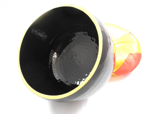 "Black 432Hz A#    Note Japanese Style Rin Gong Singing Bowl 11"" -40 cents  66000134"