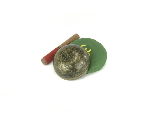 """5.25"""" G#/D Note Etched Himalayan Singing Bowl #g5300319"""