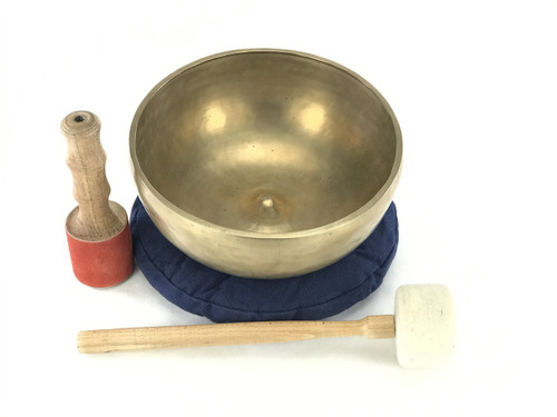 "10.25"" D#/A# Note Lingam Style Himalayan Singing Bowl #d18800319"