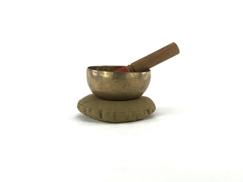 """5"""" A/D# Note Hand Hammered Himalayan Singing Bowl #a5340319"""