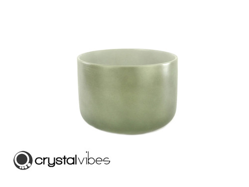 """12"""" 432Hz Perfect Pitch F Note Malachite Fusion Empyrean Crystal Singing Bowl -30 cents"""
