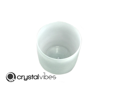 "6"" 432Hz G#    Note Turquoise Fusion Opaque Crystal Singing Bowl -40 cents  11001115"