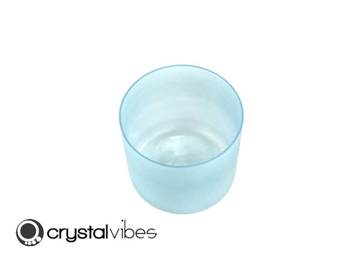 """6"""" Perfect Pitch G#    Note Aquamarine Fusion Translucent Crystal Singing Bowl -10 cents  11001129"""