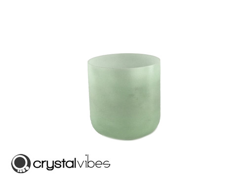 """7"""" C#    Note Prehnite Fusion Opaque Crystal Singing Bowl +45 cents  11001133"""