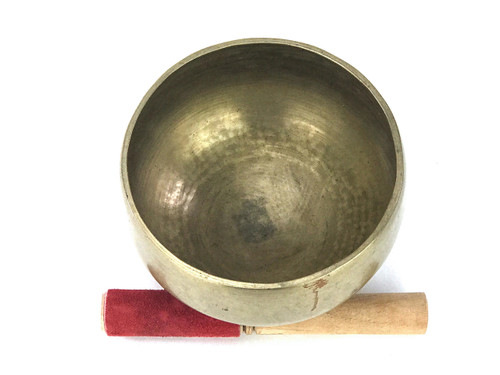 "6.25"" D#/G# Note Antique Naga Pedestal Himalayan Singing Bowl #d9700819"