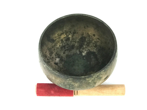 "6.75"" D#/G# Note Antique Naga Pedestal Himalayan Singing Bowl #d8740819"