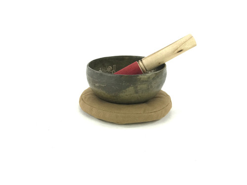"""5.5"""" G/D Note Etched Himalayan Singing Bowl #g5440819"""