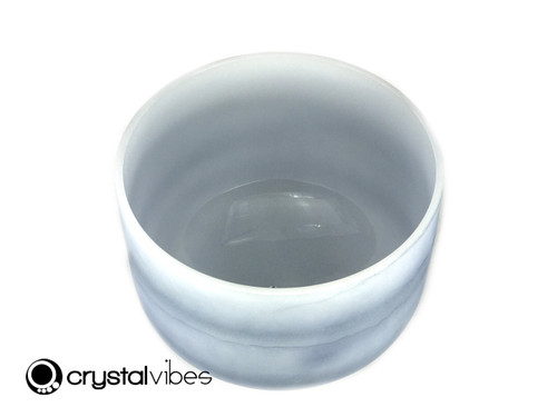 "13"" Perfect Pitch D Note Sapphire Fusion Empyrean Crystal Singing Bowl +0 cents  11001265"