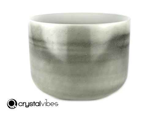 """13"""" Perfect Pitch A#  Note Black Tourmaline Fusion Empyrean Crystal Singing Bowl +0 cents  11001270"""