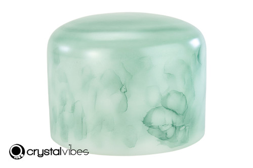 """10"""" 432Hz Perfect Pitch F Note Emerald Fusion Empyrean Crystal Singing Bowl -30 cents  11001391"""