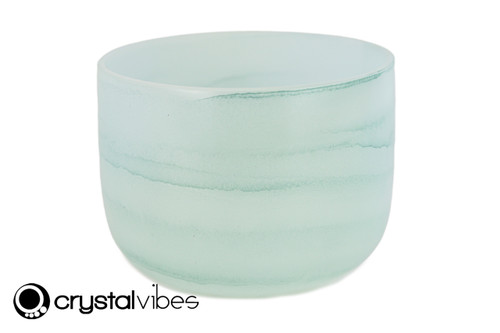 "8"" 432Hz Perfect Pitch C#  Note Emerald Fusion Empyrean Crystal Singing Bowl -30 cents  11001396"