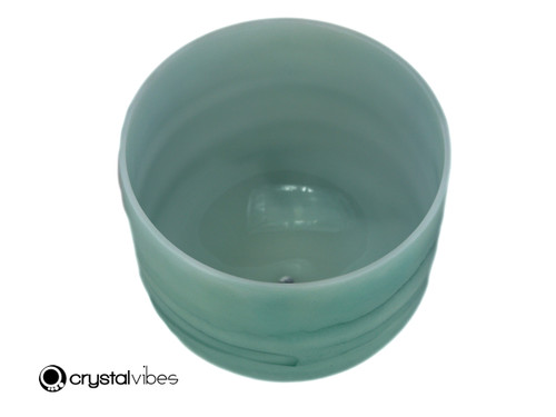 "10"" 432Hz Perfect Pitch G Note Emerald Fusion Empyrean Crystal Singing Bowl -30 cents  11001458"