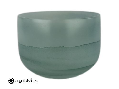"9"" 432Hz Perfect Pitch A Note Emerald Fusion Empyrean Crystal Singing Bowl -30 cents  11001460"
