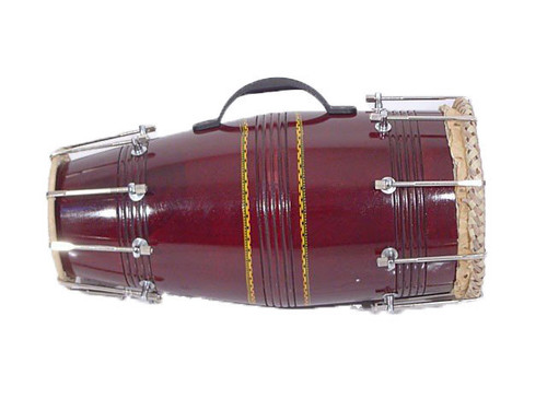 Dholki with metal hooks