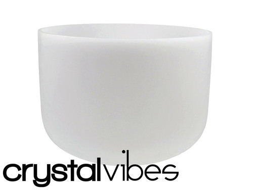 """432 Hz Perfect Pitch Empyrean E Note Crystal Singing Bowl 13"""" -30 cents  31002190"""