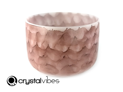 """11"""" 432Hz Perfect Pitch E Note Garnet Fusion Empyrean Crystal Singing Bowl -30 cents  11001164"""