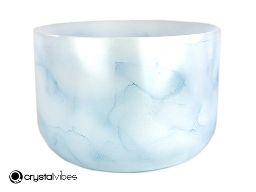 """13"""" Perfect Pitch G#  Note Aquamarine Fusion Empyrean Crystal Singing Bowl +0 cents  11001359"""