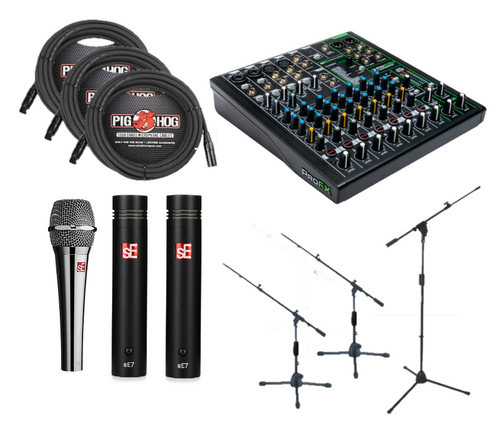 Wired 3 Mic USB Audio Package For Sound Healing Online
