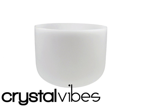 """432 Hz Perfect Pitch Empyrean D Note Crystal Singing Bowl 6"""" -35 cents  31002378"""