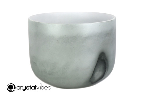 """9"""" Perfect Pitch A Note Moss Agate Gemstone Fusion Empyrean Crystal Singing Bowl +5 cents  11001521"""