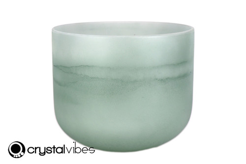 "8"" 432Hz Perfect Pitch B Note Emerald Gemstone Fusion Empyrean Crystal Singing Bowl -30 cents  11001528"