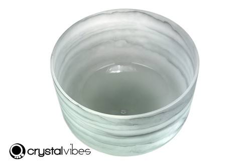 "13"" 432Hz Perfect Pitch B Note Emerald Gemstone Fusion Empyrean Crystal Singing Bowl -35 cents  11001532"