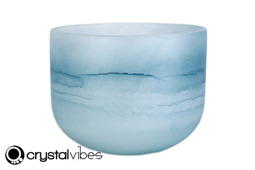 """8"""" 528Hz C Note Turquoise Gemstone Fusion Empyrean Crystal Singing Bowl +20 cents  11001583"""