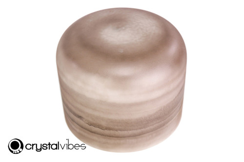 "10"" A#  Note Smokey Quartz Fusion Opaque Crystal Singing Bowl -15 cents  11001586"