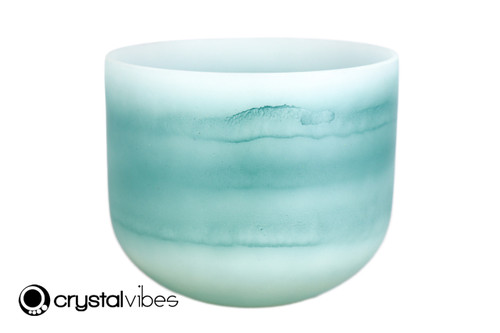 """8"""" 528Hz C Note Turquoise Gemstone Fusion Empyrean Crystal Singing Bowl +15 cents  11001587"""