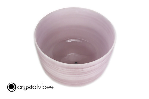 """14"""" Perfect Pitch A Note Amethyst Fusion Empyrean Crystal Singing Bowl +5 cents  11001598"""