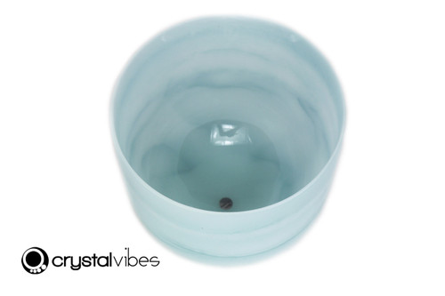 """8"""" Perfect Pitch 432Hz G#  Note Turquoise Fusion Empyrean Crystal Singing Bowl -30 cents  11001609"""