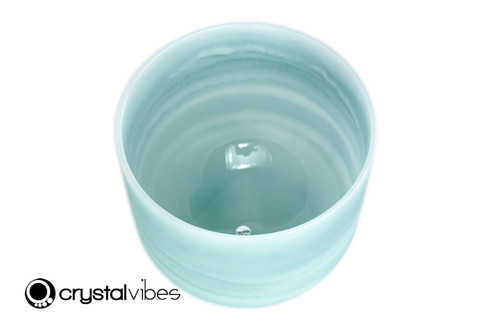 """8"""" Perfect Pitch 432Hz B Note Turquoise Fusion Empyrean Crystal Singing Bowl -30 cents  11001618"""