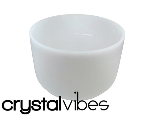 "Crystal Vibes Perfect Pitch Empyrean B Note Crystal Singing Bowl 13"" +0 cents  31002627"