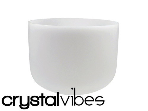"""9"""" 432Hz Perfect Pitch Empyrean Crystal Singing Bowl F# Note Ca009Fsm35   #31002747"""