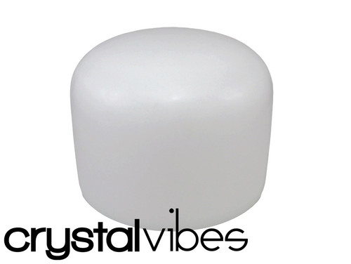 """Crystal Vibes Perfect Pitch Empyrean A#  Note Crystal Singing Bowl 9"""" +0 cents  31002758"""