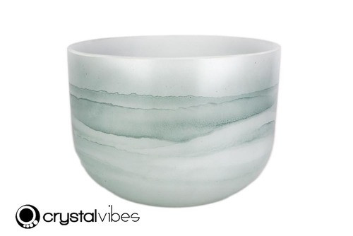 """10"""" Perfect Pitch F Note Larimar Fusion Empyrean Crystal Singing Bowl +0 cents  11001631"""