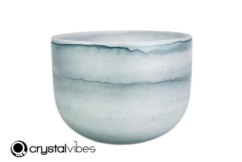 """9"""" Perfect Pitch A#  Note Larimar Fusion Empyrean Crystal Singing Bowl +0 cents  11001632"""