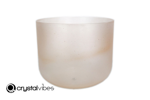 """9"""" A#  Note Sunstone Fusion Empyrean Crystal Singing Bowl +25 cents  11001691"""