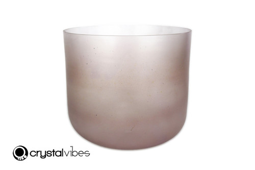 """9"""" 432Hz Perfect Pitch A#  Note Amethyst Fusion Clear Crystal Singing Bowl -40 cents  11001693"""