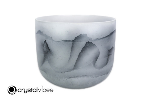 """9"""" Perfect Pitch G Note Black Tourmaline Fusion Empyrean Crystal Singing Bowl +5 cents  11001697"""