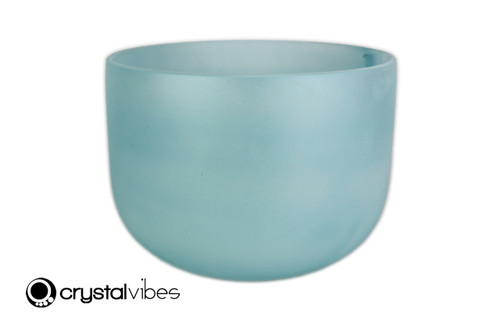 """10"""" Perfect Pitch A Note Turquoise Gemstone Fusion Empyrean Crystal Singing Bowl +0 cents  11001728"""