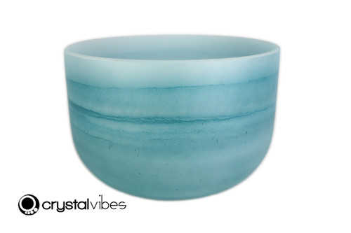 """10"""" Perfect Pitch F#  Note Turquoise Gemstone Fusion Empyrean Crystal Singing Bowl +0 cents  11001730"""