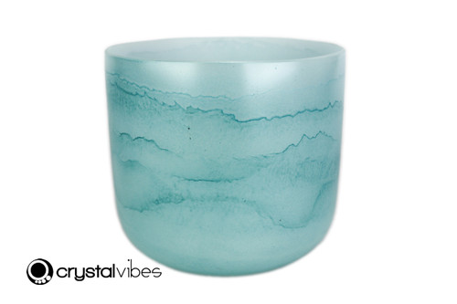 """7"""" Perfect Pitch 432Hz G#  Note Turquoise Fusion Empyrean Crystal Singing Bowl -30 cents  11001745"""