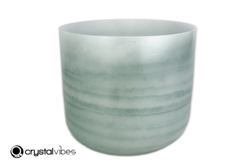 """9"""" A#  Note Larimar Gemstone Fusion Opaque Crystal Singing Bowl -45 cents  11001746"""